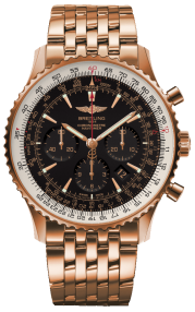 Breitling Navitimer 01 (46 mm) Red Gold (Limited) - Black/Gold RB0127E6/BF16/443R