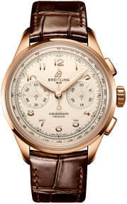 Breitling Premier B09 Chronograph 40 18k Red Gold - Silver RB0930371G1P1
