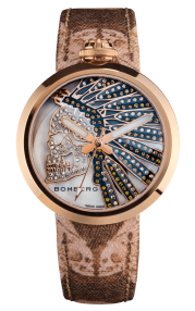 Bomberg 1969 Indian Skull Brown Lady 40mm RS40H3PPK.171.3