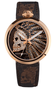 Bomberg 1968 Indian Skull Chocolat Lady 40mm RS40H3PPK.180.3