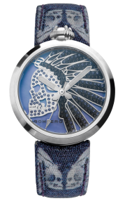 Bomberg 1968 Indian Skull Blue Lady 40mm RS40H3SS.144.3