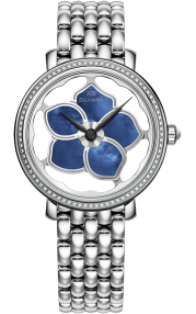 Silvana Flowers Stainless Steel - Diamonds SF36QSD88S