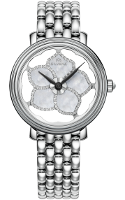 Silvana Flowers Stainless Steel - Diamonds SF36QSS95S