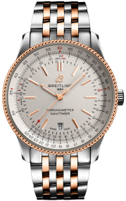 Breitling Navitimer Automatic 41 Stainless Steel & 18k Red Gold Silver U17326211G1U1