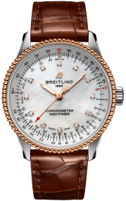 Breitling Navitimer Automatic 35 Steel & 18k red gold - Mother-Of-Pearl Diamonds U17395211A1P2