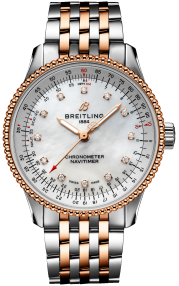 Breitling Navitimer Automatic 35 Steel & 18k red gold - Mother-Of-Pearl Diamonds U17395211A1U1