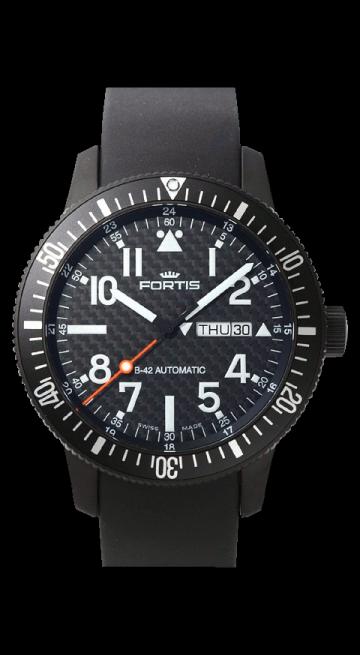 Fortis B42 Cosmonauts Black Titanium Carbon Dial 647.28.71 L01
